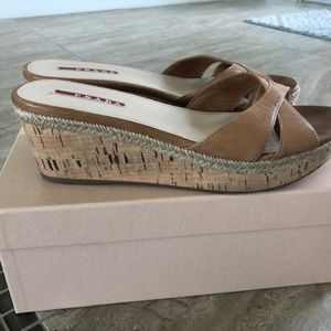 Prada Leather Cork Slides-natural-size 39